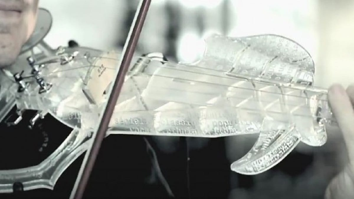 3D printing a violin