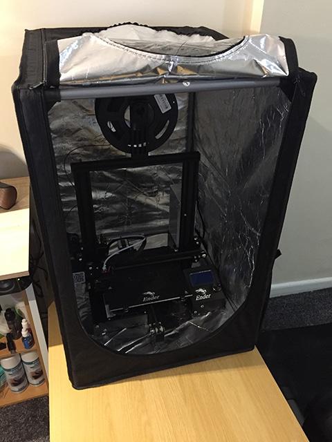 Ender 3D printer enclosure being assembled