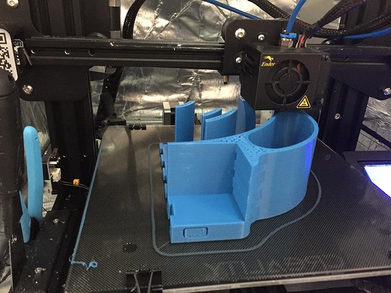 3D printed scanner component