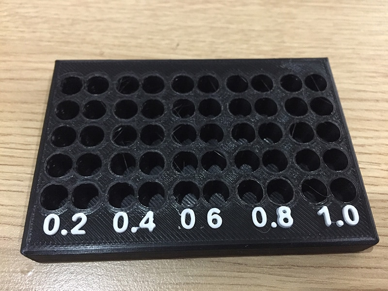 3D printer nozzle rack