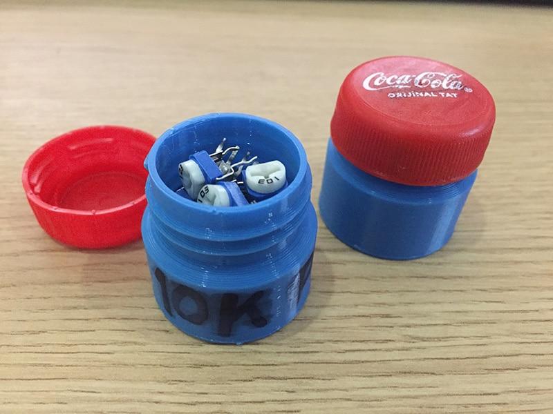 Tiny 3D printable jars