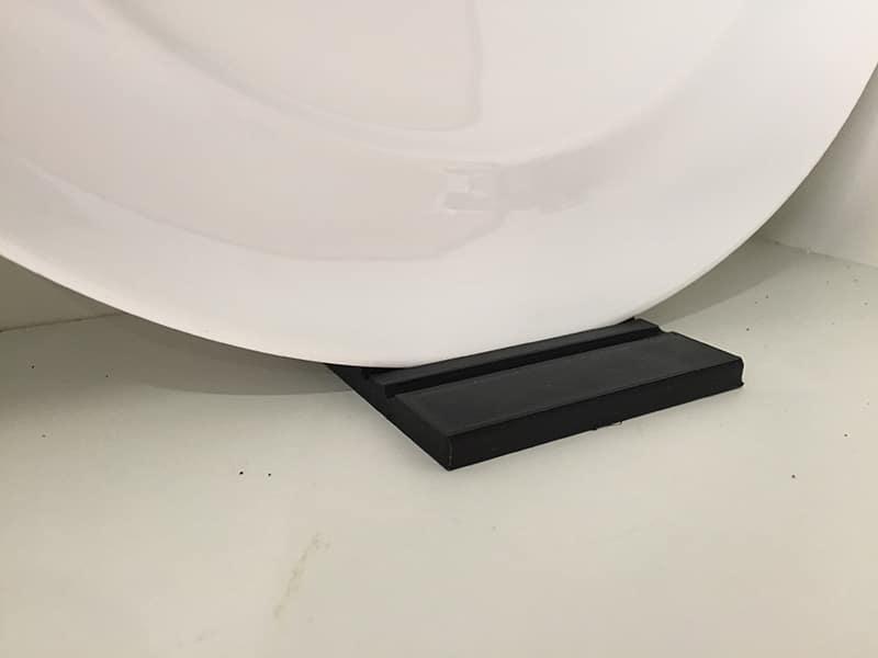 3D printed plate rack
