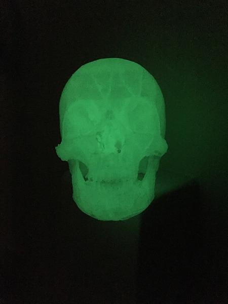 Glow In The Dark Green Skull