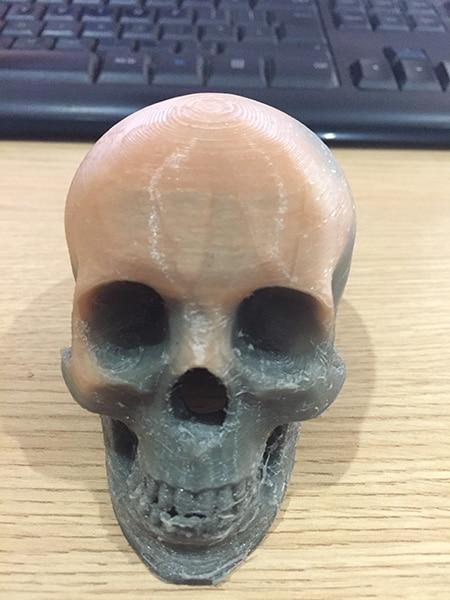 Thermochromic skull